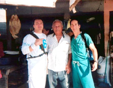 Dr's Fields And Cavalino With The Owner Of A Local Market